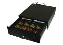 Geldlade 400 x 455 x 120mm (B x D x H) Elektrisch en handmatig incl. aansluitkabel
